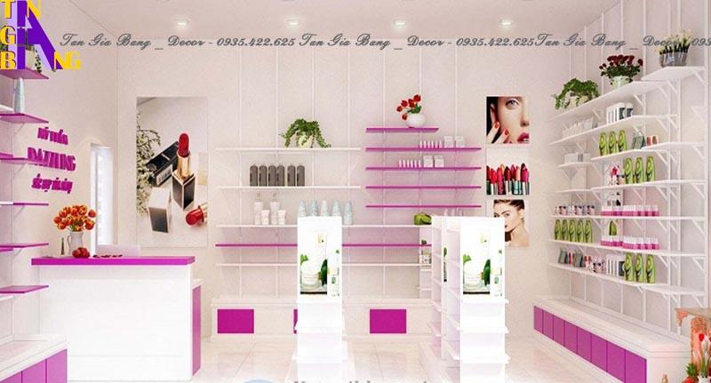 thiết kế shop mỹ phẩm siêu xinh ở Nha Trang Khánh Hòa