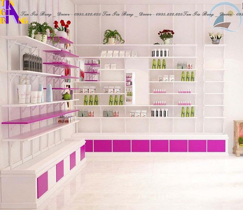 thiết kế shop mỹ phẩm cực đẹp ở Nha Trang Khánh Hòa