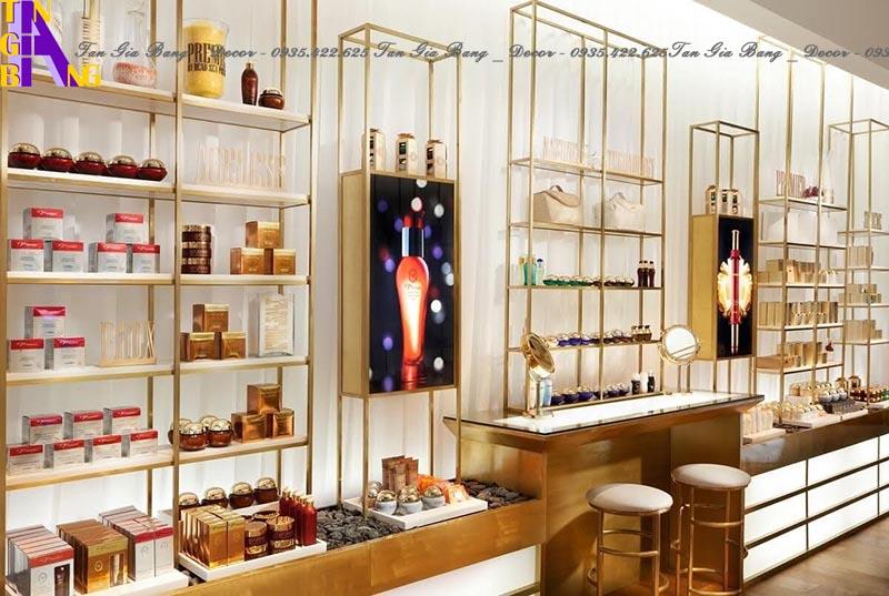 Thiết kế kệ trưng bày cho shop mỹ phẩm PREMIER ở Đồng Nai