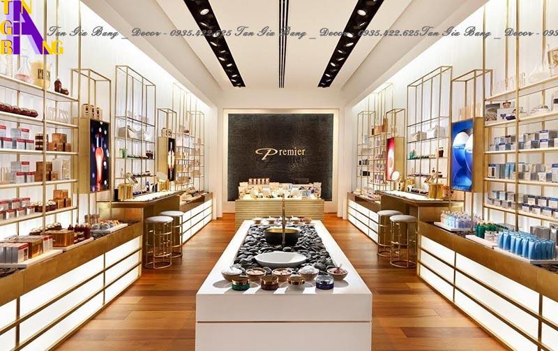Thiết kế shop mỹ phẩm sang trọng - Shop PREMIER ở Đồng Nai