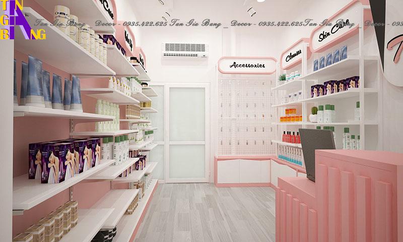 Thiết kế shop mỹ phẩm đẹp và sang trọng ở TP. Thủ Đức