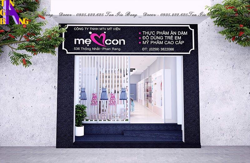 Thiết kế mặt tiền cho shop thời trang ở Ninh Thuận
