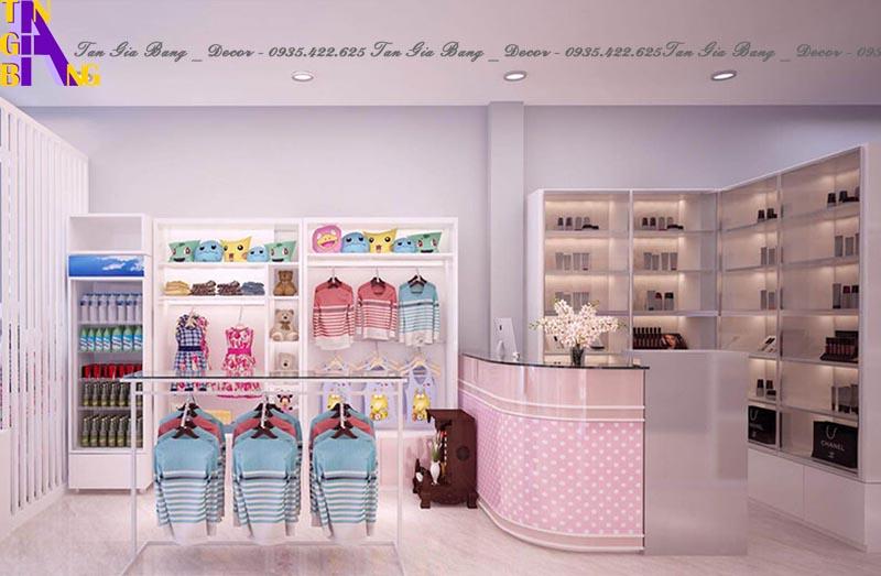 Thiết kế quầy thu ngân cho shop thời trang ở Ninh Thuận